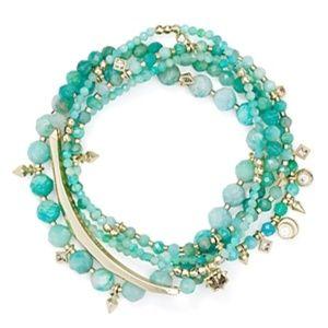 $95 KENDRA SCOTT Supak Amazonite Bracelet Set NWT